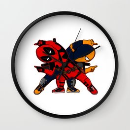 Dead pool Fusion Wall Clock