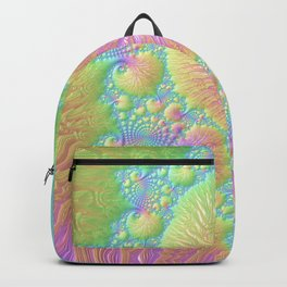 Reef Coral Abstract Colorful Spiral Swirl Pattern Fractal Fine Art Backpack