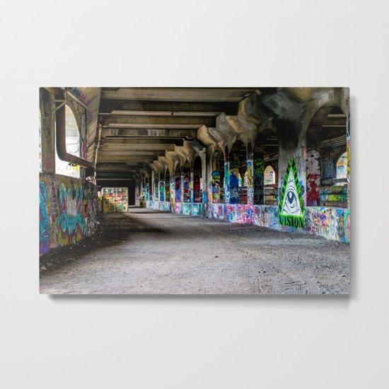 Down the Hall Metal Print