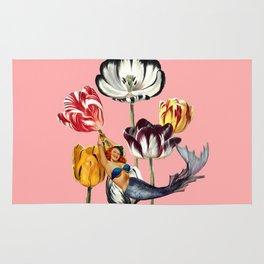Mermaid Land #collage Rug