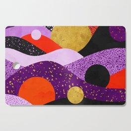 Terrazzo galaxy purple orange gold Cutting Board