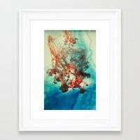tye dye Framed Art Prints featuring Dye by Victoria Shapow