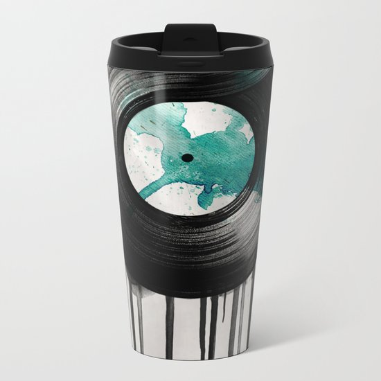 infinite vinyl Metal Travel Mug