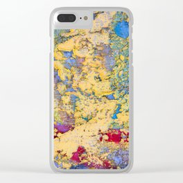 Flaking paint in Valparaiso Clear iPhone Case