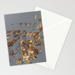 Bronze on Gray Square #abstract #society6 #decor #geometry Stationery Cards