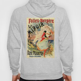 French belle epoque mime theatre advertising Hoody