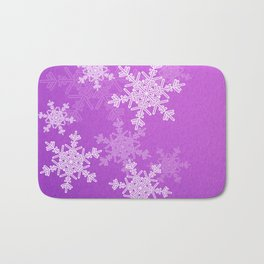 Purple snowflakes Bath Mat