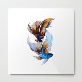 Veiltail Goldfish Metal Print