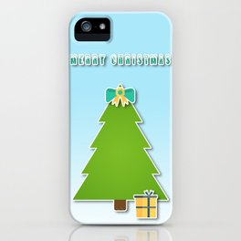Christmas motif No 3 iPhone Case