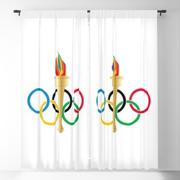 Olympic Rings Blackout Curtain