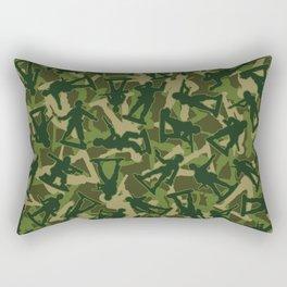 Toy Soldiers Camo JUNGLE GREEN Rectangular Pillow