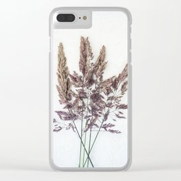 Velvet Grass Clear iPhone Case