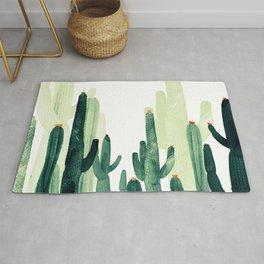 Green cactus Rug