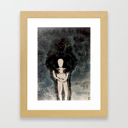 We all have inner demons Framed Art Print
