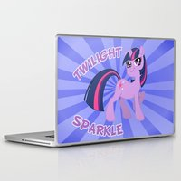 mlp Laptop & iPad Skins featuring MLP FiM: Twilight Sparkle by Yiji
