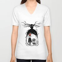over the garden wall V-neck T-shirts featuring Over the Garden Wall by Joana Shino