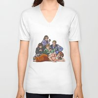 the breakfast club V-neck T-shirts featuring The Breakfast Club by Heidi Banford