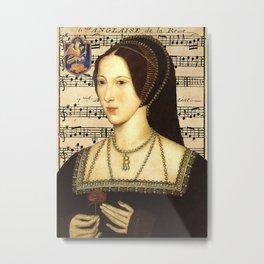 Musical Queen Anne Boleyn Metal Print