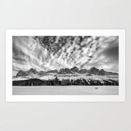 Winter dolomites Art Print