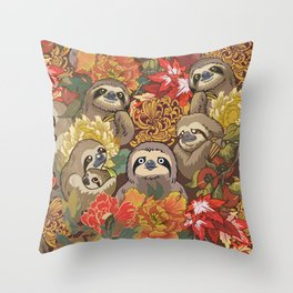 Because Sloths Autumn Throw Pillow