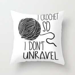 Crocheting Knitting Gifts Throw Pillow
