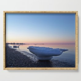 Icebergs on the Beach Serving Tray