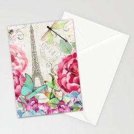 Paris Flower Market garden art Stationery Cards