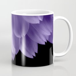 Ultra violet purple flower petals black Coffee Mug