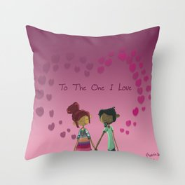 Valentine's day art painting type of Print  Throw Pillow