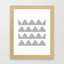 Lash in Grey Framed Art Print