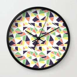 Seamless mosaic pattern triangles Wall Clock