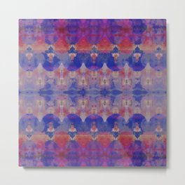 Watercolour Tribal Blue Metal Print