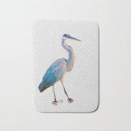 Blue Heron Silhouette Bath Mat