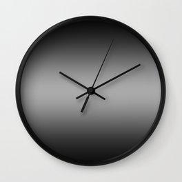 Black to White Horizontal Bilinear Gradient Wall Clock
