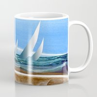 geology Mugs featuring The Geology of Boating by Patricia Howitt