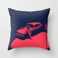 picard Throw Pillows featuring Peachy by Anton Marrast