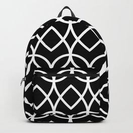 Grey Black White Geometric Shapes Diamond 1 Backpack