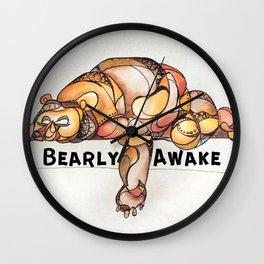 BEARly Awake Wall Clock
