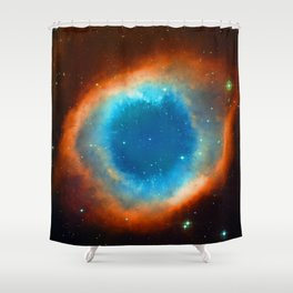 Eye Of God - Helix Nebula Shower Curtain