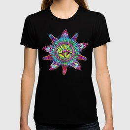 "Passiflora The ""Passion Flower"" Psyhcedelic Abstract T-shirt"