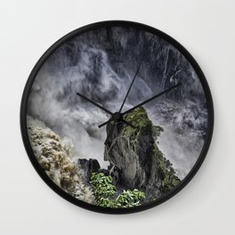 Chaotic water view Wall Clock