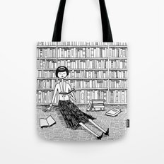 She just wanted to read books and do nothing else Tote Bag