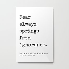 83  | Ralph Waldo Emerson Quotes | 200727 Metal Print