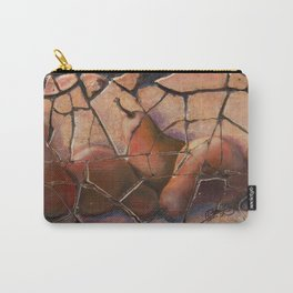 The Pears Fresco With a Crackle Finish #Society6 Carry-All Pouch