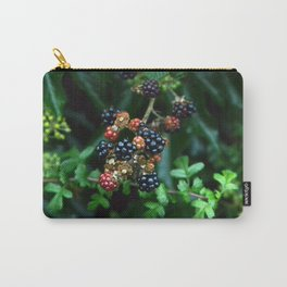 blackberries in red and black Carry-All Pouch