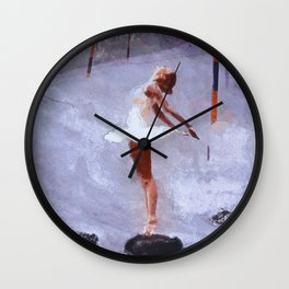 A Warm Dance On A Cold Rock Wall Clock