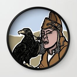 Mongolian Falconer Wall Clock