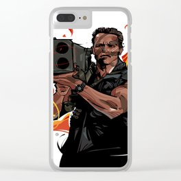 Commando-1 Clear iPhone Case