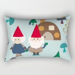 gnome blue Rectangular Pillow