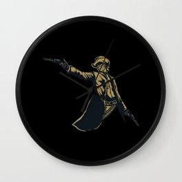 Gun Slinger Man Wall Clock